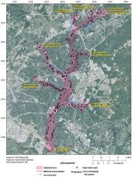 map of columbia south carolina flood inundation map of gills creek in columbia south carolina