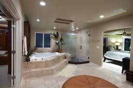 inspiring master bedroom with open bathroom 28 in best interior