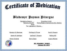 baby dedication certificate 6 download free documents in pdf