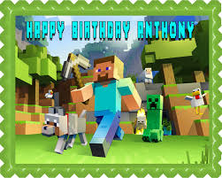 minecraft edible cake topper minecraft characters 2 edible birthday cake topper