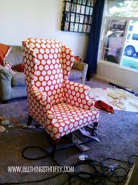 furniture how to reupholster a wingback chair how to upholster