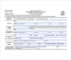 bill of sale form u2013 10 free sample example format download