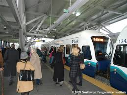 seatac light rail station npi s cascadia advocate sound transit inaugurates service on