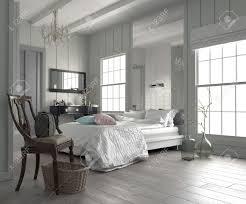 chambre blanche moderne grand intérieur de chambre blanche moderne et spacieuse avec un lit