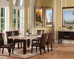 formal dining room set white fabric backseat dining chairs