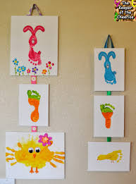 the keeper of the cheerios easter hand and footprint crafts