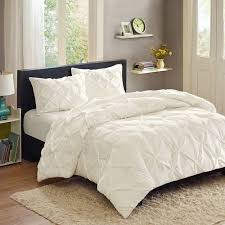 Aqua And White Comforter Better Homes And Gardens Pintucked 3 Piece Comforter Set Walmart Com