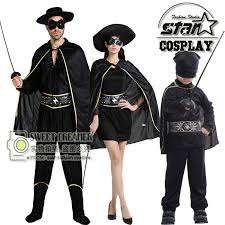 Halloween Robin Costume Zorro Robin Costume Halloween Cosplay Mom Kids Boy Anime