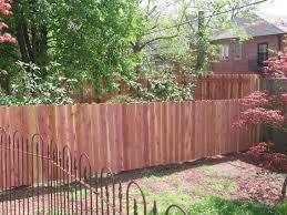 Backyard Fence Decorating Ideas Backyard Fence Shapely New Backyard Wood Fence Plus New Backyard