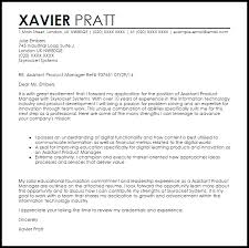 assistant product manager cover letter sample livecareer