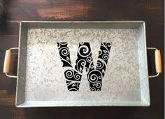 monogrammed serving dishes monogrammed serving tray galvanized custom serving tray metal