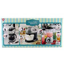 3 Piece Kitchen Appliance Set by Gourmet Kitchen Appliance Kid Pretend Play Set Toy Blender Coffee