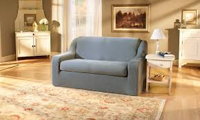 Slipcovers For Loveseats With Two Cushions Sure Fit Stretch Pique Box Cushion Loveseat Slipcover U0026 Reviews
