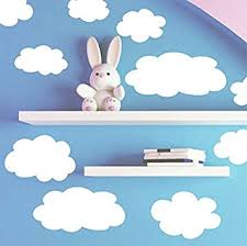 Nursery Room Wall Decor Create A Mural Fluffy Cloud Wall Decals Baby Nursery