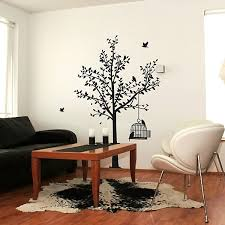 wall stickers funky vinyl wall decals tree and birdcage wall sticker
