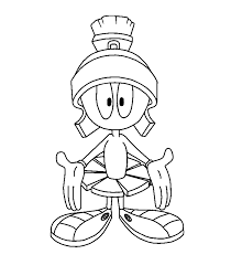marvin martian coloring coloring