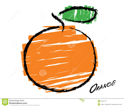 sketch of an orange royalty free stock image image 28021736