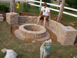 garden brick wall design ideas easy backyard fire pit designs u2026 pinteres u2026