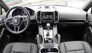 porsche cayenne interior 2016 porsche cayenne v6 rack and opinion