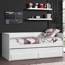 canap tiroir lit canapé enfant robinson avec tiroir lit et 2 tiroirs coloris