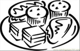 desserts coloring page free pages on ideas thanksgiving food