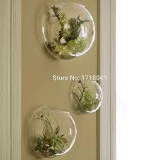 Indoor Wall Planters by Aliexpress Com Buy 3pcs Set Semicircle Glass Terrariums Wall
