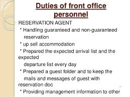 front desk agent duties introduction to front office