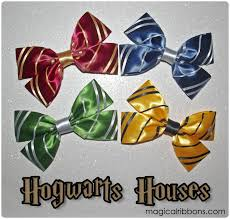 Harry Potter House by Hogwarts Houses Bows Harry Potter Magical Ribbons