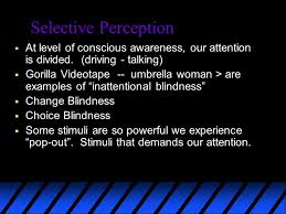 Inattentional Blindness Definition Perception Selective Perception Any Moment Our Awareness