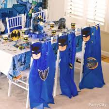 Avengers Table And Chairs Batman Party Table Idea Party City