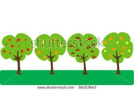 cute trees set six cute trees stock vector 137234048 shutterstock