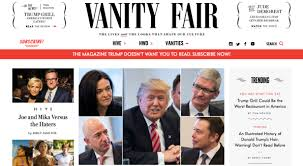 Vanity Fair Magazine Change Of Address Trump Says Vanity Fair Is U201cway Down U201d But Circulation Is Actually Up