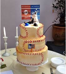 baseball cake toppers baseball san francisco giants and la dodgers by splendorlocity