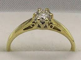 18 carat diamond ring 18carat 18k yellow gold 1 3 carat diamond solitaire ring uk size m