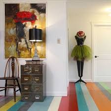 gorgeous multi color chalk paint floor created and painted by