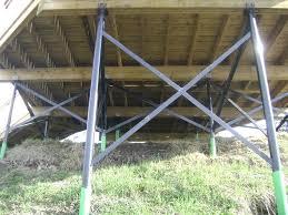 concrete deck piers or bury the in concrete techno metal post