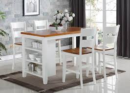 kitchen island table with 4 chairs 8201 5pc spice buttermilk kitchen island 4 pub chairs