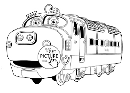 chuggington coloring pages brewster for kids printable free