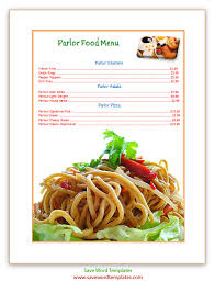 free word menu templates free word templates lunch menu template