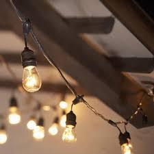 48 ft commercial medium base string light w suspender black