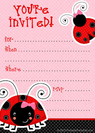 free baby shower printables invitations free ladybug party invitations from printablepartyinvitations