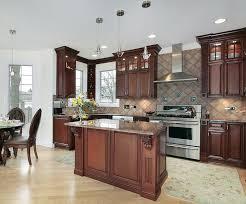 Cherry Cabinets In Kitchen Luxury Kitchen Ideas Counters Backsplash U0026 Cabinets Designing