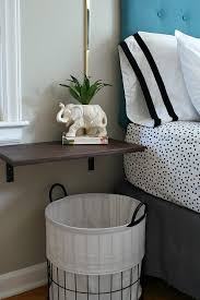 White Floating Nightstand Floating Shelf Nightstand With Brown Wood And Bedroom Also