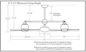 how to measure a ceiling fan best ceiling fan dimensions funwareblog com
