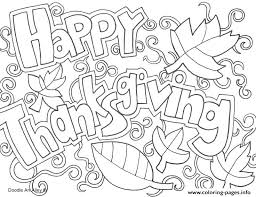 doodle coloring pages happy thanksgiving doodle