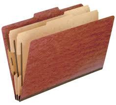 Letter Legal File Box by Pendaflex Top Tab Pressboard Classification Folders 2 5 Cut