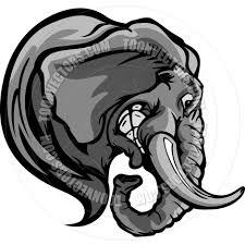 elephant head cartoon image by chromaco toon vectors eps 43707