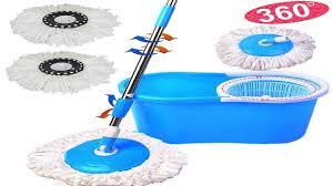 Floor Mop by Easy Magic Floor Mop 360 Bucket 2 Heads Microfiber Spin Spinning