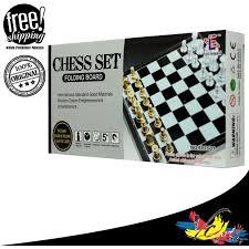 magnetic folding chess set el2502 11street malaysia board games