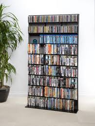 Blu Ray Shelves by Media Tower Elite Large In Black